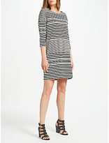 Minimum Jeana Stripe Dress, Black