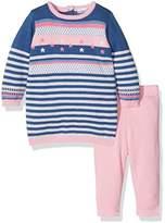 3 Pommes 3Pommes Baby Girls 0-24m Soft Blue Clothing Set,6-9 Months pack of 2