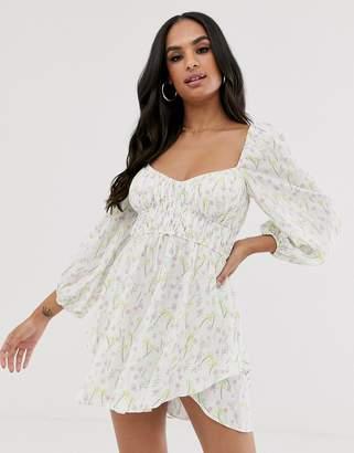 For Love & Lemons Strudel floral mini dress-Multi