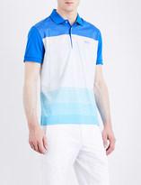 HUGO BOSS Regular-fit striped jersey polo shirt