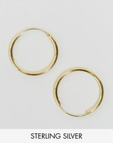 Asos Gold Plated Sterling Silver 20mm Hoop Earrings