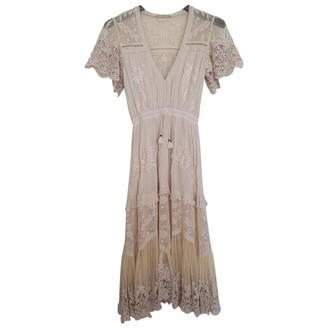 Spell & The Gypsy Collective Ecru Cotton Dress for Women