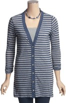 Agave Denim Steen Striped Cardigan Sweater - Tunic-Length, 3/4 Shirred Sleeve (For Women)