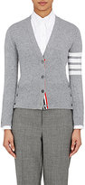 Thom Browne Women's Cashmere Striped-Sleeve Cardigan