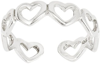 Sterling Open-Heart Link Polished Toe Ring
