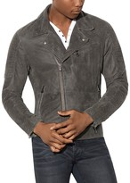 John Varvatos Suede Leather Biker Jacket