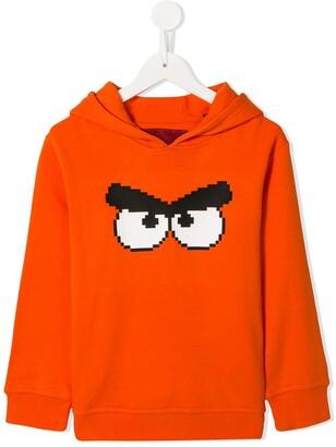 Mostly Heard Rarely Seen 8 Bit Angry Bird print hoodie