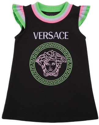 Versace Kids Medusa Frill-Trim Dress (3-36 Months)