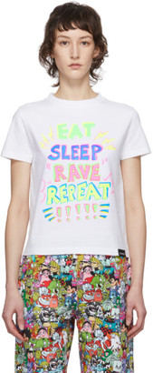 Vetements White Eat, Sleep, Rave, Repeat T-Shirt
