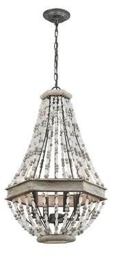 Highland Dunes Glynn 4 - Light Unique / Statement Empire Chandelier with Beaded Accents