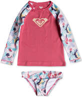 Roxy 2-Pc. Tropical Parrots Rash Guard Swim Set, Little Girls