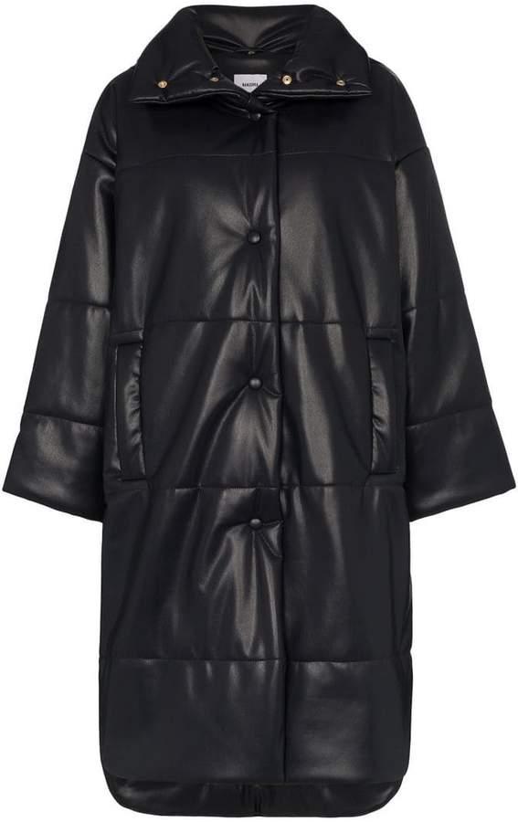 Nanushka Eska oversized vegan leather puffer coat