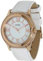 GUESS GUESS? Women's U11679L1 White Leather Quartz Watch with Dial