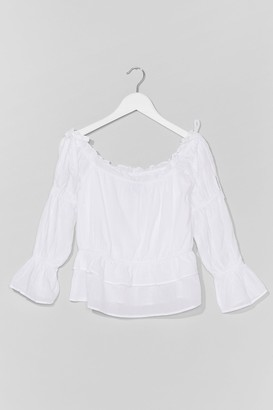 Nasty Gal Womens Week Off-the-Shoulder Relaxed Top - White - 8