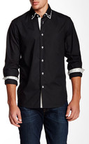 Coogi Regular Fit Long Sleeve Contrast Trim Shirt