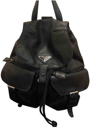 Prada Black Leather Backpacks
