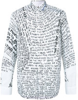 Oamc text print shirt - men - Cotton - L