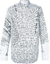 Oamc text print shirt