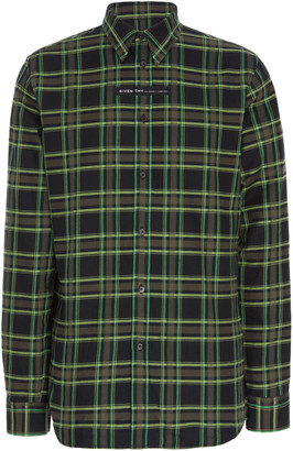 Givenchy Logo-Patch Plaid Cotton Shirt