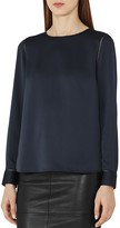 Reiss Cecile Button-Back Blouse