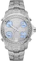 "JBW Men's JB-6213-C ""Jet Setter"" Stainless Steel Five Time Zone Diamond Watch"