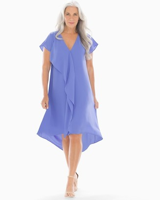 Soma Intimates Ruffle V-Neck Short Dress Periwinkle