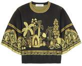 Valentino Jacquard cropped sweater