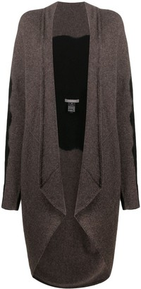 Suzusan Colour Block Asymmetric Cardigan