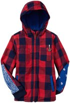 Scotch & Soda Kids Hooded Check Jacket (Kid) - Red/Navy-6
