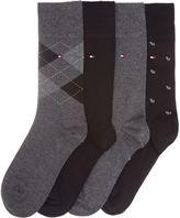 Tommy Hilfiger 4 Pack Argyle And Plain Tinned Sock Gift Set