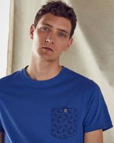Ted Baker Geo print pocket cotton Tshirt