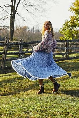Free People Gold Coast Knit Maxi Skirt