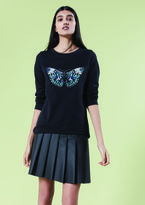 """Oasis EMBROIDERED BUTTERFLY SWEAT [span class=""""variation_color_heading""""]- Black[/span]"""