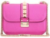 Valentino Lock Small Metallic Leather Shoulder Bag