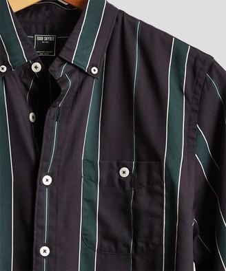 Todd Snyder Button Down Bold Stripe Shirt in Green