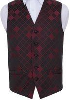 "DQT Premium Diamond Men's Wedding Waistcoat Vest - 40"""