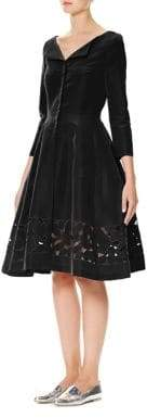 Carolina Herrera Cutout Silk Faille Dress