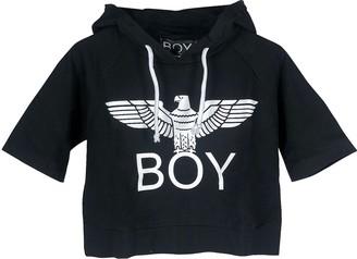Boy London Black Signature Cropped Hoodie
