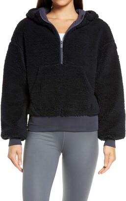 Alo Streetside Half Zip Faux Fur Hoodie