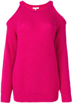 IRO Lineisy cutout shoulder ribbed sweater