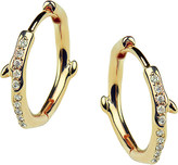 Shaun Leane Cherry Branch yellow-gold vermeil and diamond hoop earrings