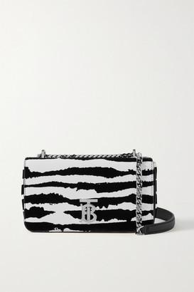 Burberry Leather And Velvet Shoulder Bag - Zebra print