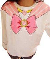 Cartiar® Harajuku Sailor Moon Lolita Cosplay Sweatshirts Cute Bow-knot Fleece Pullover Hoodies