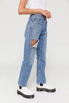 A Gold E Agolde AGOLDE 90s High-Waisted Straight Leg Jean Portal