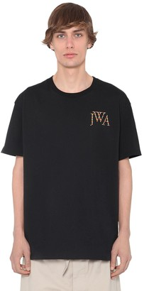 J.W.Anderson Embroidered Logo Cotton Jersey T-Shirt