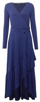 Dorothy Perkins Womens Navy Jersey Wrap Dress