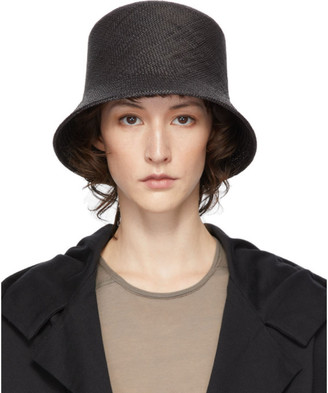 Y's Ys Black Panama Hat
