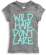 Urban Smalls Heather Gray 'Wild Hair Don't Care' Fitted Tee - Toddler & Girls