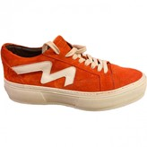 MSGM Orange Suede Trainers