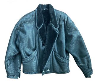 Gianni Versace Black Leather Jackets